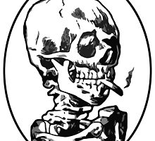 Skeleton Smoking by obscured