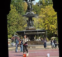 Bethesda Fountain, Central Park, New York City by lenspiro