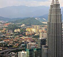 Sunset on the City - Kuala Lumpur, Malaysia. by Tiffany Lenoir