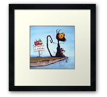 At the Edge of Reason! Framed Print