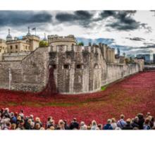 Poppies round the Tower Sticker