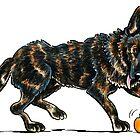 German Shepherd Dax by offleashart