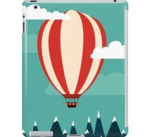 Hot air ballon illustration iPad Case/Skin