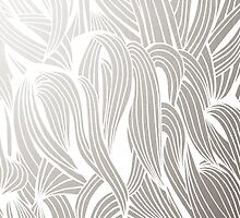 Silver & White Pattern by Cat Coquillette
