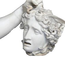 Hand Holding Head Sculpture by Louis Malouf