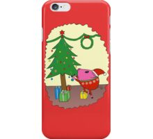 PiGgy is ready for Christmas! iPhone Case/Skin