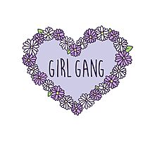 Girl Gang Floral Heart Photographic Print