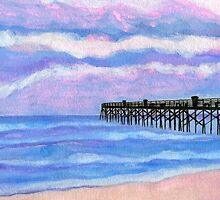 Flagler Beach Pier' by Roz Abellera Art