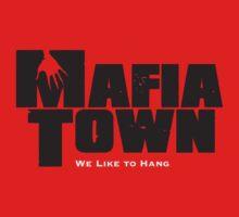 Mafia Town Logo (Black/White) by MafiaTown