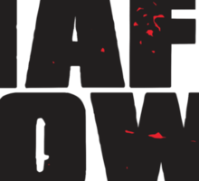 Mafia Town Logo (Black/Red) Sticker