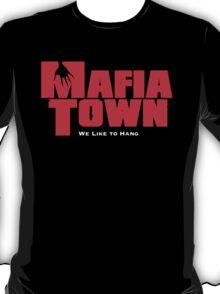 Mafia Town Logo (Red/White) T-Shirt