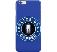 Police Box Coffee | Doctor Who iPhone Case/Skin