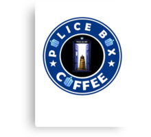 Police Box Coffee | Doctor Who Canvas Print