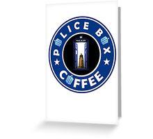 Police Box Coffee | Doctor Who Greeting Card