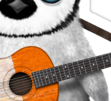 Baby Penguin Playing Irish Flag Guitar Sticker