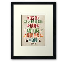 Buddy the Elf - The Four Main Food Groups Framed Print