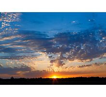 Midwestern Sunset Sky Photographic Print