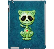 Green Zombie Sugar Kitten Cat iPad Case/Skin