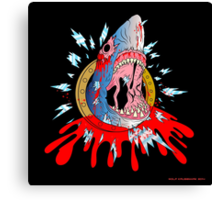 Zombie Shark Canvas Print