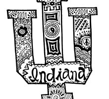 Hipster Indiana University Outline by alexavec