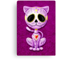 Purple Zombie Sugar Kitten Cat Canvas Print