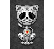 Dark Zombie Sugar Kitten Cat Photographic Print