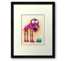 The Pink Dog and his ball Framed Print