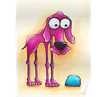 The Pink Dog and his ball Poster