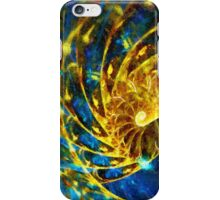 Abstract Geometric Life Blue Gold iPhone Case/Skin