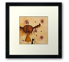 Painting Flowers Framed Print