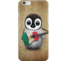 Baby Penguin Playing Mexican Flag Guitar iPhone Case/Skin