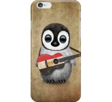 Baby Penguin Playing Egyptian Flag Guitar iPhone Case/Skin