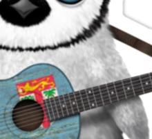Baby Penguin Playing Fiji Flag Guitar Sticker