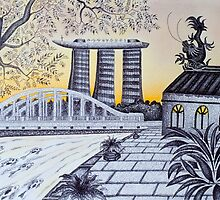 Singapore - The Old and the New by Glenn Russell