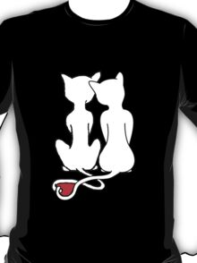 Love Cats Solid White T-Shirt