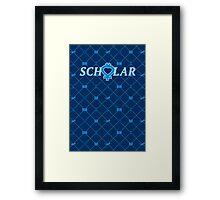 SCHOLAR Framed Print
