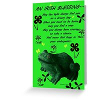 Froggy in Clover... or Shamrocks? Greeting Card