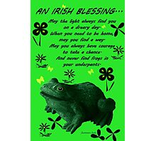 Froggy in Clover... or Shamrocks? Photographic Print