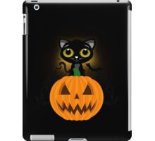 Black Kitten & Jack O Lantern iPad Case/Skin