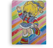 Sugar Skull Rainbow Brite Canvas Print
