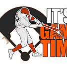 It's Game Time - Baseball (Orange) by Adamzworld