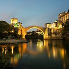 Stari Most by night  by Rob Hawkins