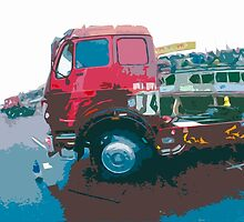 """Unique and rare 1980 Race Trucks France 15 (c) (t) """" fawn paint Picasso ! Olao-Olavia by Okaio Créations by okaio caillaud olivier"""