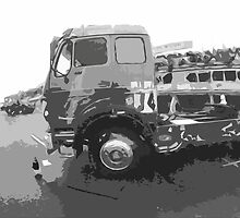 """Unique and rare 1980 Race Trucks France 15 (n&b) (t) """" fawn paint Picasso ! Olao-Olavia by Okaio Créations by okaio caillaud olivier"""