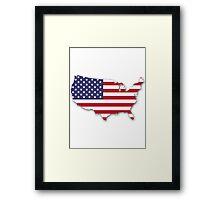 America Map Framed Print