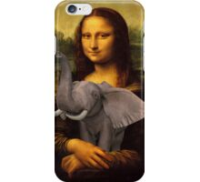Mona Lisa With Elephant iPhone Case/Skin