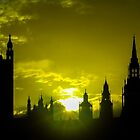 Sunset over Palace of Westminster by Shane Rounce