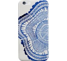 Navy Tree Rings iPhone Case/Skin