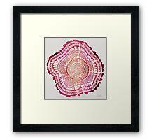 Tree Rings – Red Watercolor Framed Print