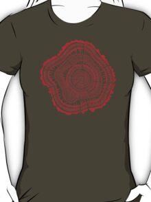 Red Tree Rings T-Shirt
